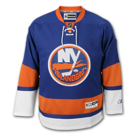 New York Islanders RBK Youth (7 to 12 yrs old) Premier Jersey - Dark Blue