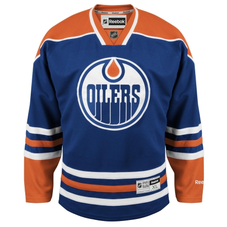 Edmonton Oilers RBK Youth (7 to 12 yrs old) Premier Jersey - Dark Blue