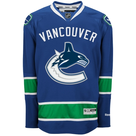 Vancouver Canucks RBK Youth (7 to 12 yrs old) Premier Jersey - Blue