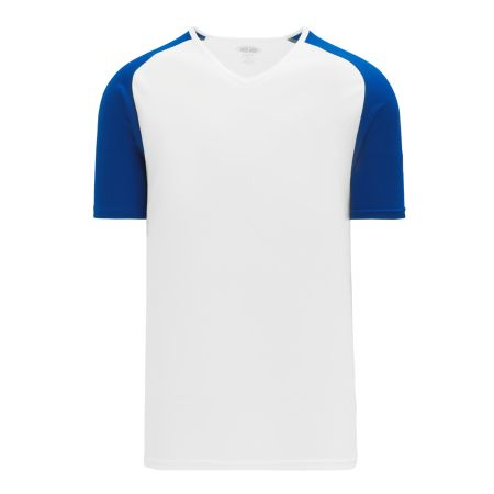 A1375 Apparel Short Sleeve Shirt - White/Royal