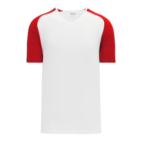 A1375 Apparel Short Sleeve Shirt - White/Red