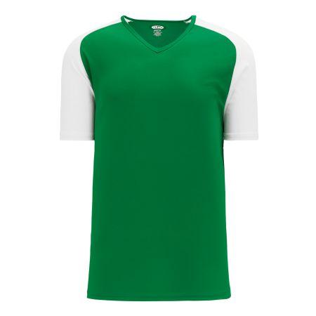A1375 Apparel Short Sleeve Shirt - Kelly/White