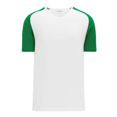 A1375 Apparel Short Sleeve Shirt - White/Kelly