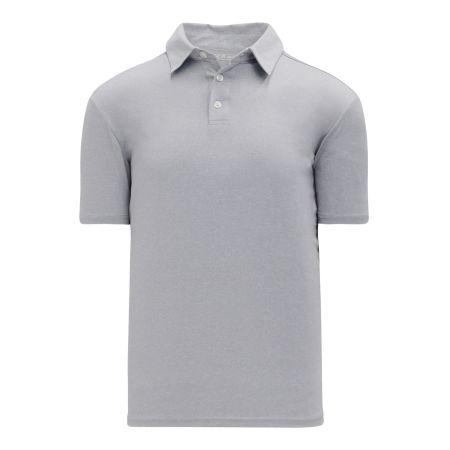 A1810 Apparel Polo Shirt - Heather Grey