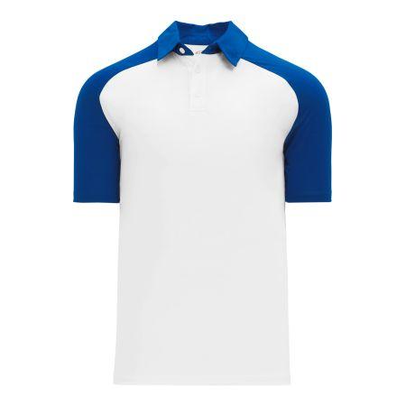 A1815 Apparel Polo Shirt - White/Royal