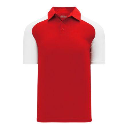 A1815 Apparel Polo Shirt - Red/White