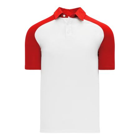 A1815 Apparel Polo Shirt - White/Red