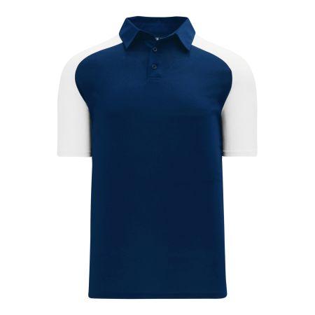 A1815 Apparel Polo Shirt - Navy/White