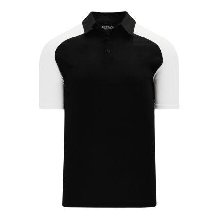 A1815 Apparel Polo Shirt - Black/White