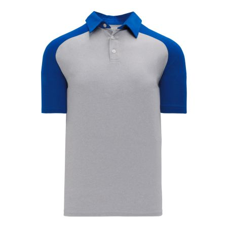 A1815 Apparel Polo Shirt - Heather Grey/Royal