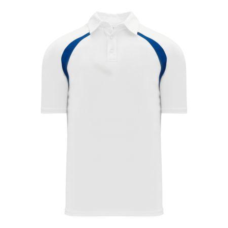 A1820 Apparel Polo Shirt - White/Royal