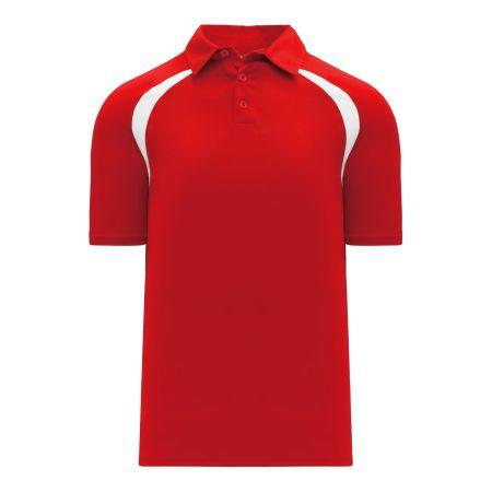 A1820 Apparel Polo Shirt - Red/White