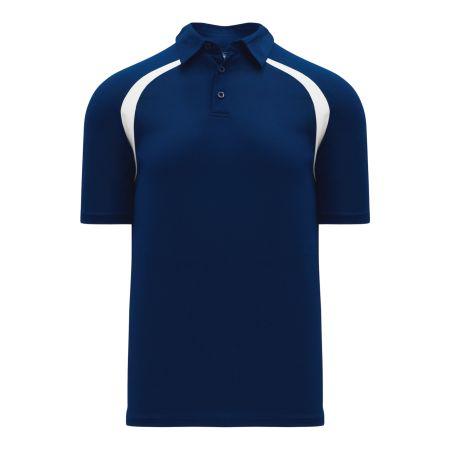 A1820 Apparel Polo Shirt - Navy/White