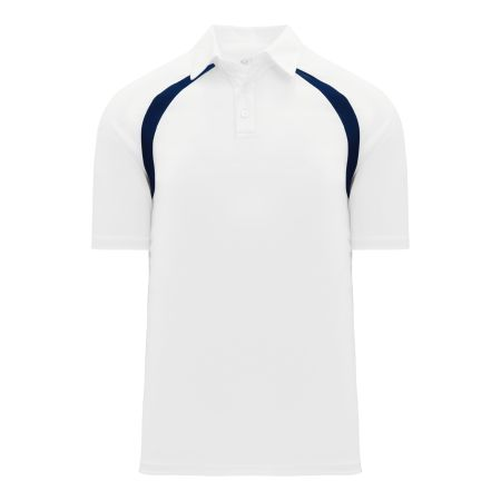 A1820 Apparel Polo Shirt - White/Navy