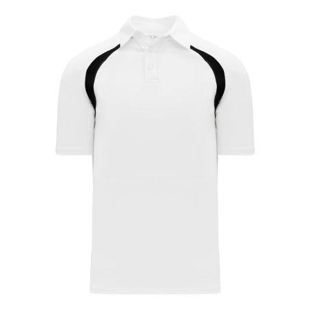 A1820 Apparel Polo Shirt - White/Black