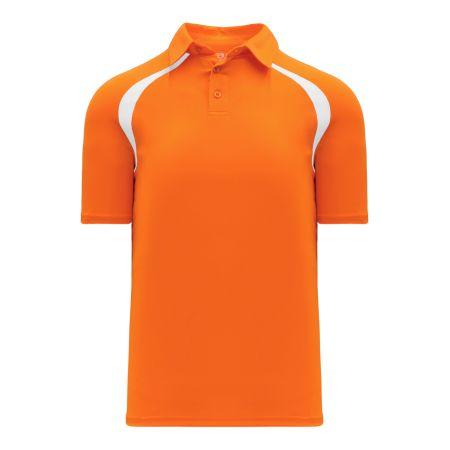 A1820 Apparel Polo Shirt - Orange/White