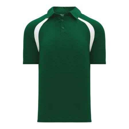 A1820 Apparel Polo Shirt - Dark Green/White
