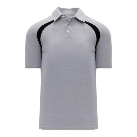 A1820 Apparel Polo Shirt - Heather Grey/Black
