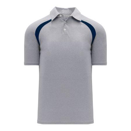 A1820 Apparel Polo Shirt - Heather Grey/Navy