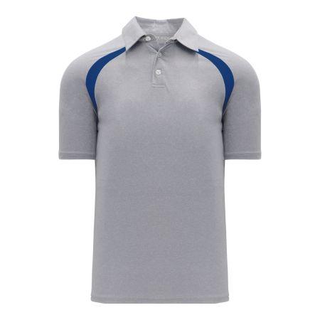 A1820 Apparel Polo Shirt - Heather Grey/Royal