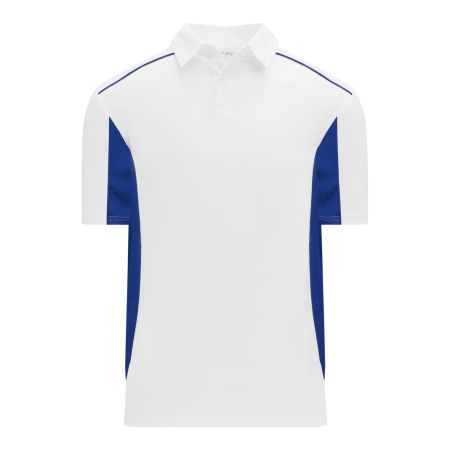 A1825 Apparel Polo Shirt - White/Royal