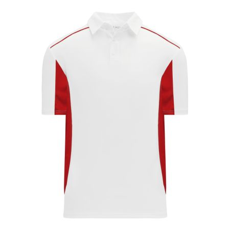 A1825 Apparel Polo Shirt - White/Red