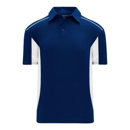 A1825 Apparel Polo Shirt - Navy/White
