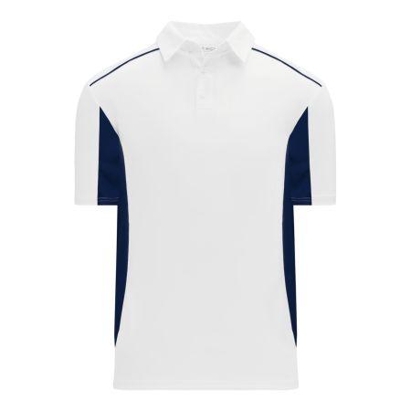 A1825 Apparel Polo Shirt - White/Navy