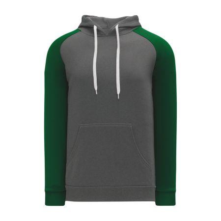 A1840 Apparel Sweatshirt - Heather Charcoal/Dark Green