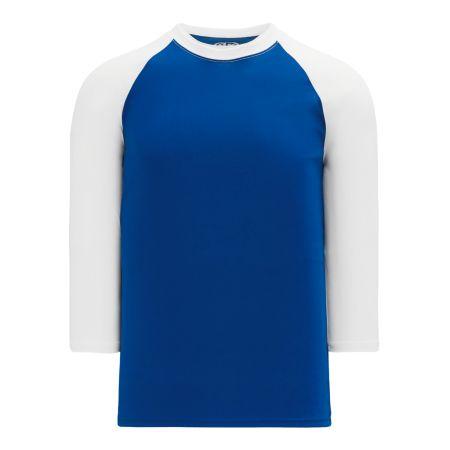 A1846 Apparel Short Sleeve Shirt - Royal/White