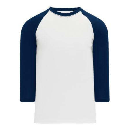 A1846 Apparel Short Sleeve Shirt - White/Navy