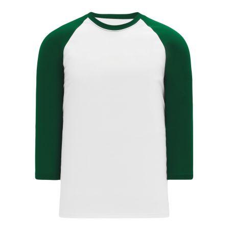 A1846 Apparel Short Sleeve Shirt - White/Dark Green