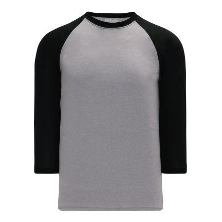 A1846 Apparel Short Sleeve Shirt - Heather Grey/Black
