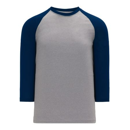 A1846 Apparel Short Sleeve Shirt - Heather Grey/Navy