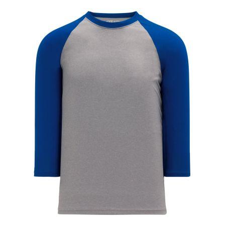 A1846 Apparel Short Sleeve Shirt - Heather Grey/Royal