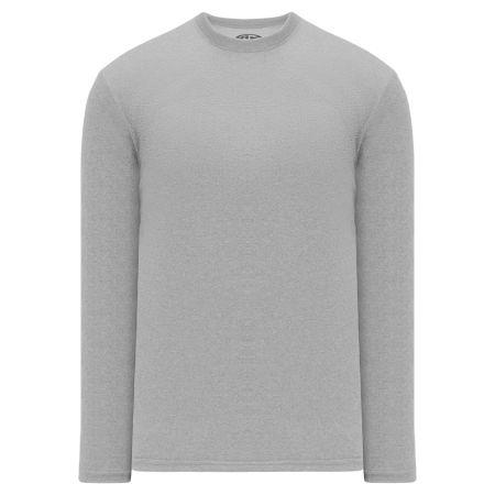 A1900 Apparel Long Sleeve Shirt - Heather Grey