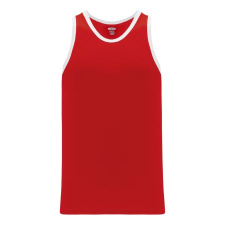 B1325 League Basketball Jersey - Red/White