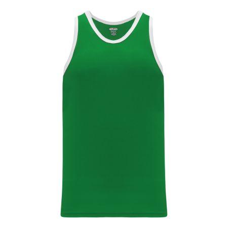 B1325 League Basketball Jersey - Kelly/White