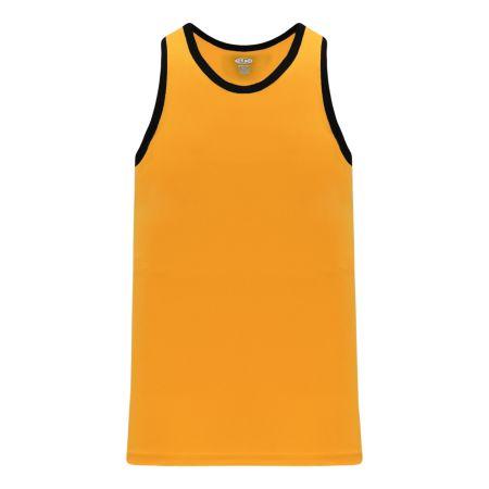 B1325 League Basketball Jersey - Gold/Black