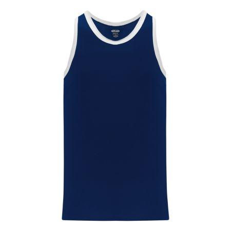 B1325 League Basketball Jersey - Navy/White