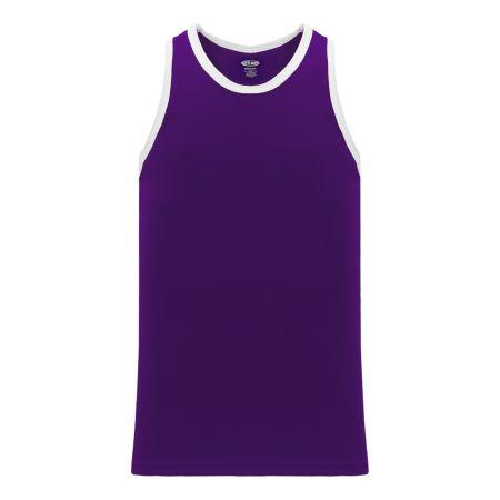 B1325 League Basketball Jersey - Purple/White