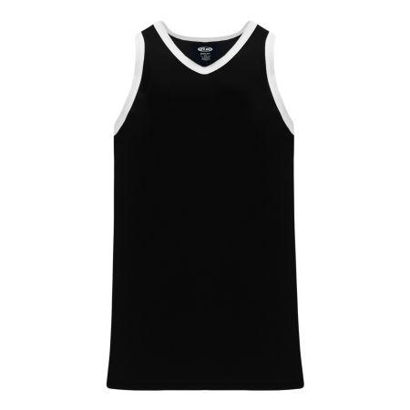 B1325 League Basketball Jersey - Black/White