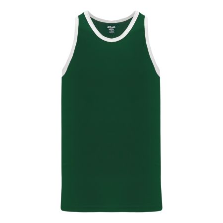 B1325 League Basketball Jersey - Dark Green/White