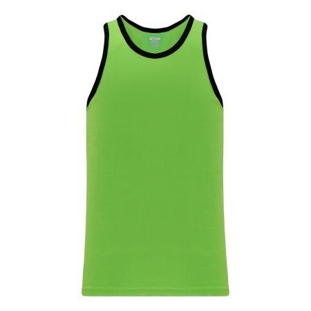 B1325 League Basketball Jersey - Lime Green/Black