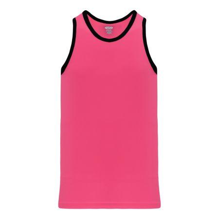 B1325 League Basketball Jersey - Pink/Black