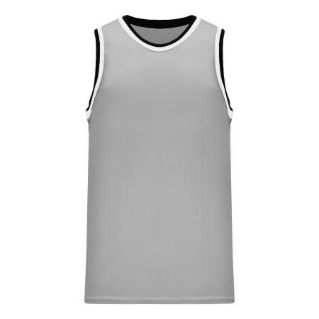 B1710 Pro Basketball Jersey - Grey/Black/White