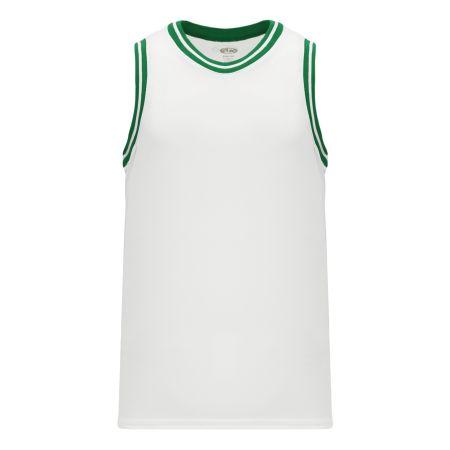 B1710 Pro Basketball Jersey - White/Kelly
