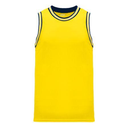 B1710 Pro Basketball Jersey - Maize/White/Navy