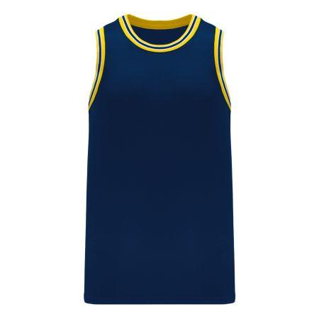 B1710 Pro Basketball Jersey - Navy/Maize/White