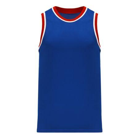 B1710 Pro Basketball Jersey - Royal/Red/White
